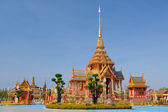 Thai royal funeral and Temple — Stock Photo