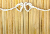 Rope in the shape of heart — Stock Photo