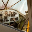 Old airplane cockpit — Stock Photo #12435040