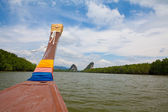 Boat on the river — Stock Photo