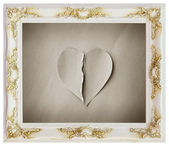 White frame and heartbroken — Stock Photo