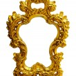 Gold ornate oval frame — Stock Photo