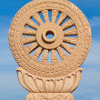 Wheel of dhamma — Stock Photo