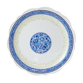 Painted plate isolated — Stock Photo