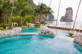 Swimming pool view of Thailand — Zdjęcie stockowe