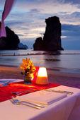 Dinner on sunset — Stock Photo