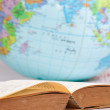Old book and globe — Stock Photo #12486222