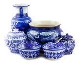 Chinese antique vase — Stock Photo