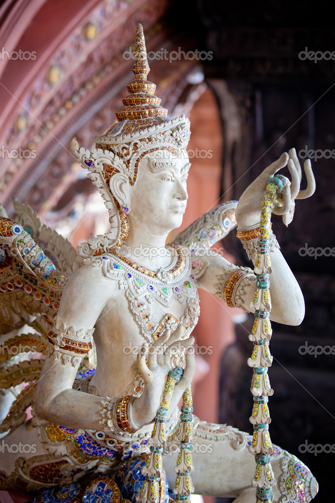Thai style angel statue in Erawan museum,Thailand — Stock Photo #12518008