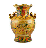 Chine vase gold — Stock Photo