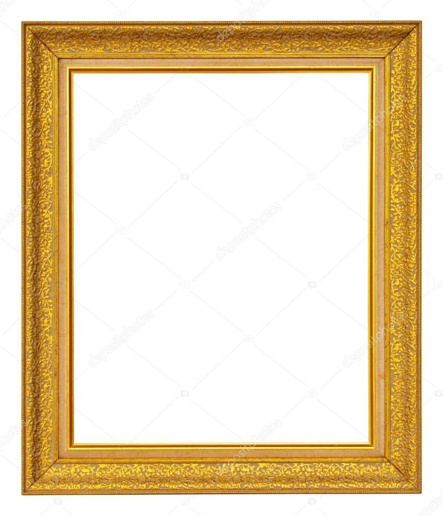 Gold frame on white background  Stock Photo #12520112