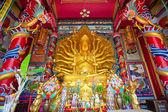 Golden Statue of Guan Yin — Stock Photo