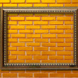 Stock Photo: Wood frame on brickwall