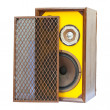 Old speaker isolated — Stock Photo