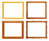 Isolate Wooden frame — Stock Photo