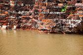 Brick wall flood — Stock Photo