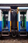 Dörren till blå tåget — Stockfoto