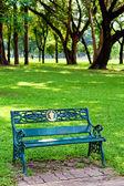 Bench green park — Stock Photo