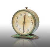Vintage old clock isolated — Foto Stock