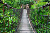 Rope walkway through — Stock Photo