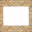 Flower carved frame — Stock Photo #13563821