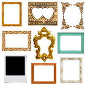 Gold and wood frame — Stock Photo