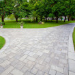 Path through the landscaped park — Stock Photo