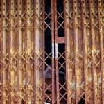 Old metallic door — Stock Photo #13624243