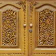 Wooden carved doors — Stock Photo