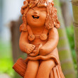 Pottery statuette — Stock Photo
