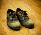 Trekking boots — Stock Photo
