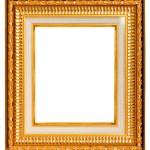 Gold frame on white — Stock Photo #13642486