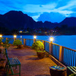 River in Vang Vieng - Stock Photo