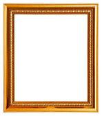 Gold frame on white — Stock Photo
