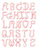 The alphabet hear — Stock Photo