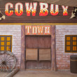 American western style town - Stock Photo