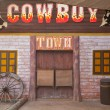 American western style town — Stock Photo #17130839