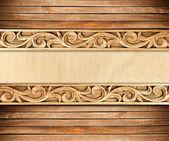Flower carved frame — Stock Photo