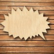 Stock Photo: Wood speech bubble