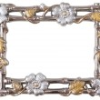 Flower silver and gold frame — Stock Photo #21853717