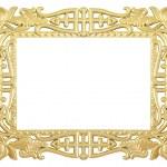 Flower gold frame — Stock Photo #21853727