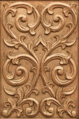 Flower carved on wood — Stock Photo