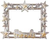 Star silver frame — Stock Photo