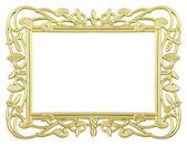 Flower gold frame — Stock Photo