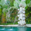 Bali spa statue — Stock Photo