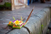 Bali with flowers — Stock Photo