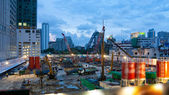 Industrial construction site — Stock Photo