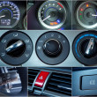 Car interior details collage — Stock Photo #25000187