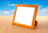 Photo frames on the table — Stock Photo