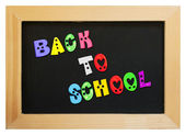 Colorful letters with back to school — Stock fotografie